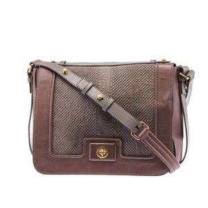 Marc Jacobs Kira Grey & Purple Leather Handbag